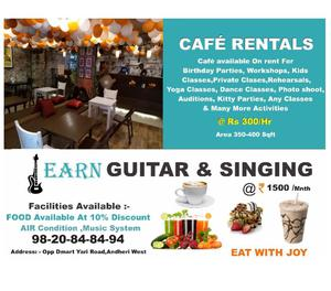 CAFE ON RENT IN ANDHERI WEST YARI ROAD DAILY & HOURLY BASIS