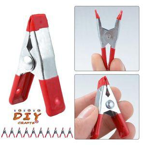 """Metal Spring Clamps 2"""" Clip w/ Soft Plastic Tips Grip Photos"""