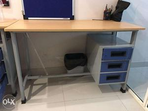 Big Office/Computer table with 3 drawers (2 Piece)