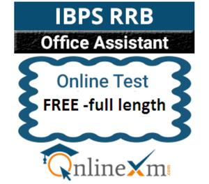 Free IBPS RRB Office Assistant Pre Mock Test Jaipur