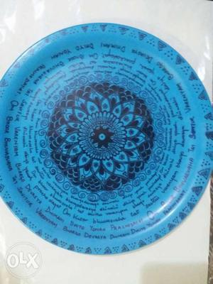 Hand crafted melamine plate for decoration. can