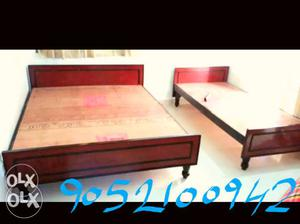 New beds single / double cot for sale in lowest price.