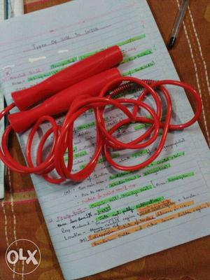 Red Skipping Rope, brand new unused