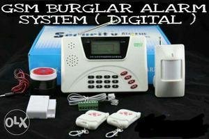 Wireless digital security alarm with GSM/Pstn