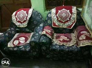 Sofa set of 1 big and 2 small full set home made