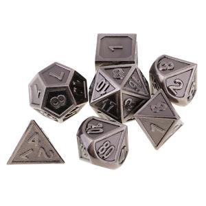 7pcs Zinc Alloy Multi-sided Dices D4-D20 for Party Board