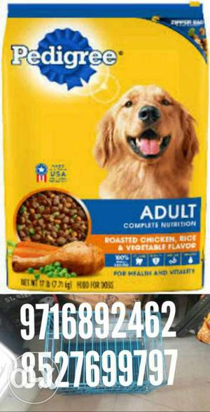 All types of dogs food and accesories avilable at