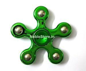 Glossy Green 5 pointed Metal ZeroGravity Fidget Hand Spinner