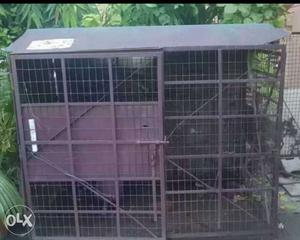 Metal dog house with 2 way opening