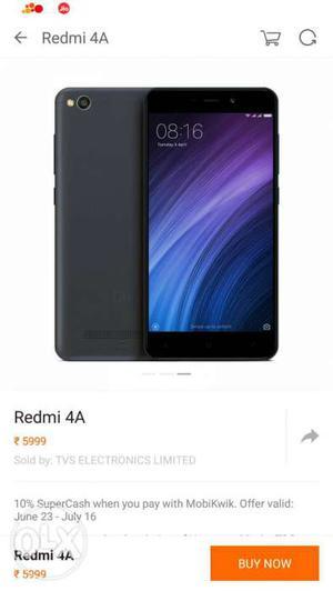 Redmi 4A 16Gb Rom 2Gb Ram brand new sealed pack