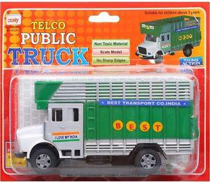 Telco Truck Centy Diecast Pull Back Toy Green, White