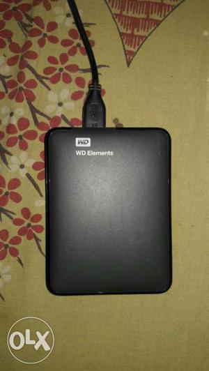 Black Western Digital Elements Portable Hard Drive