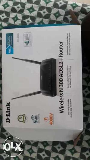 Black Wireless N300 Router Box