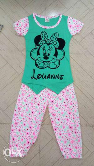 100% Cotton. Girls Kids Set Items for Sale