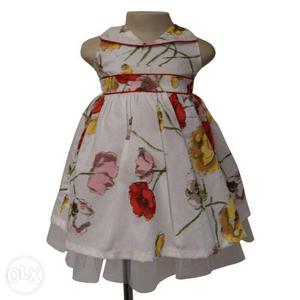 Collared Cotton Viscose Dress at Faye Store