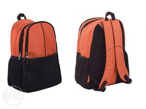 High Quality Orange and Black Backpack