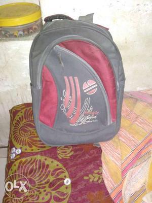 Red colour spot company bag