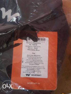 WILDCRAFT fresh piece black and blue rs bag
