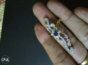 Big Ring with American Diamond jewellery. 220/-