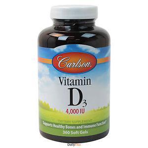 Carlson Labs® Vitamin D  IU, 360 Softgels, Fresh, Free