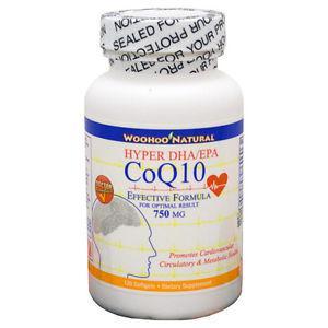 CoQ-10 (CoQ10) + DHA/EPA Omega 3 Fish Oil Formula 120 SGels,