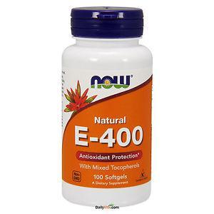 NOW Foods Vitamin E-400 IU Mixed Tocopherols 100 Softgels,