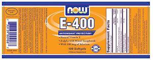 NOW Foods Vitamin E-400 IU Mixed Tocopherols + Selenium 100