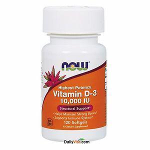 NOW Vitamin D- IU 120 Softgels Supports Bone Health