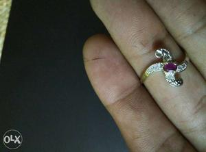 Original Ring with American Diamond at throw away