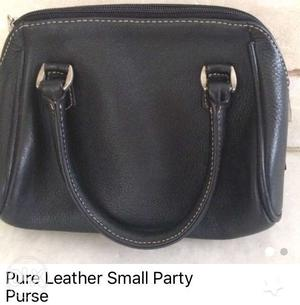 Pure leather party clutch/purse