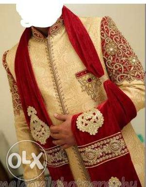 Royal men sherwani, Manyavar indo western style for marriage