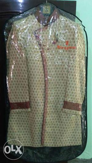Branded Indo western sherwani just one time used 32 waist