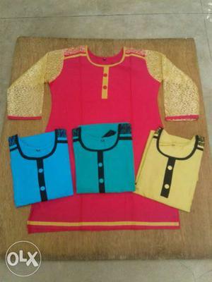 Four Assorted Color Dresses
