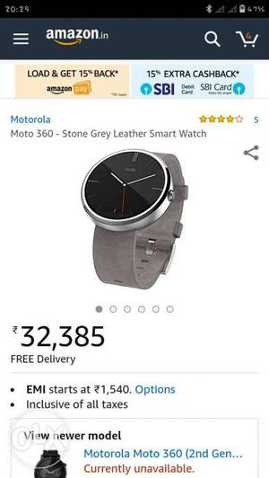 MOTO smart watch only 2 month use with box