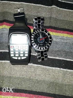 Metal watch with calculater watch free