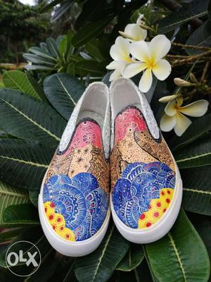 These are brand new Hand painted shoes, which are