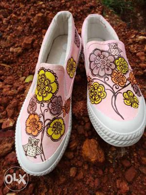 These shoes are hand painted by our Goan artists.