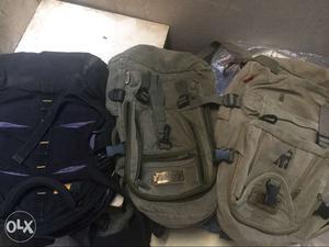 Three Assorted Backpacks