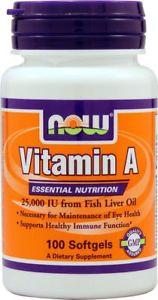 NOW Foods Vitamin A --  IU - 100 Softgels
