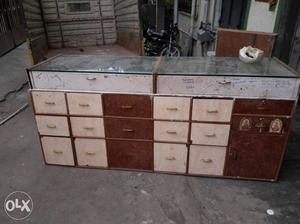 Shop counter for sale with 15 drawers and shop