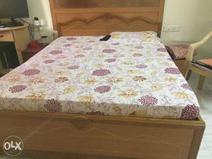 Bed for sale with mattress. Bed is with storage.