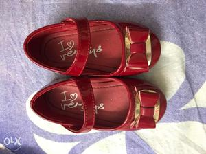 Brand new sandals golden and red at Rs 500 each