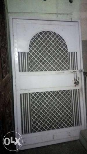 Steel Gate for Main Door, white color painted
