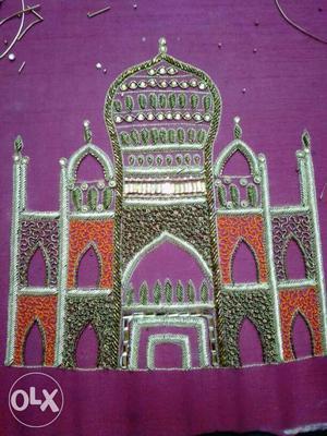 Taj Mahal Embroidered Artwork
