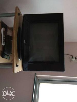 Black LG Flat Screen color TV
