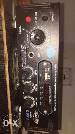 Digital sound stereo amplifier with usb fm and sd