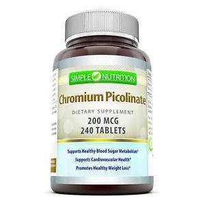 Simple Nutrition Chromium Picolinate 200 Mcg 240 TABLETS
