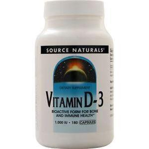 Source Naturals Vitamin D-IU) 180 caps