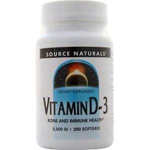 Source Naturals Vitamin D-IU) 200 sgels