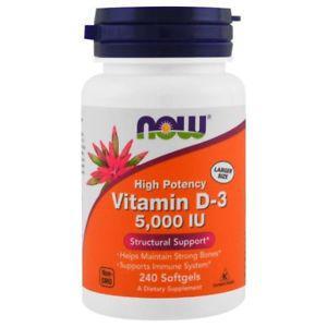 Vitamin D- IU, 240 Softgels - Now Foods